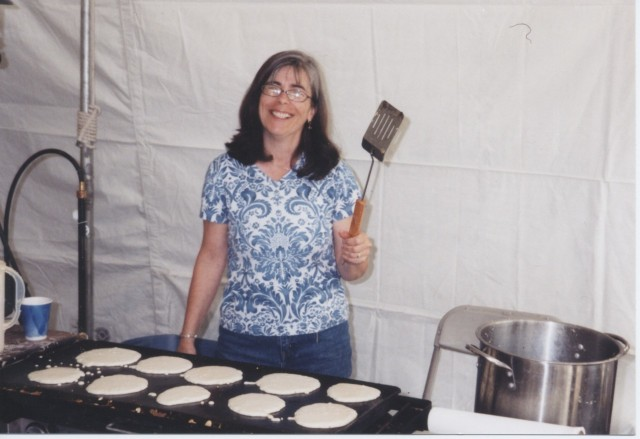 Kerry at the Griddle (over 700 pancakes at last count!)