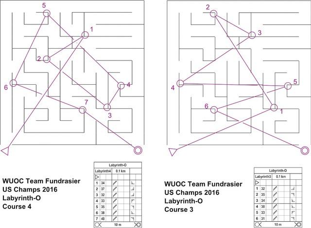 WUOC fund-raiser Labyrinth-O maps