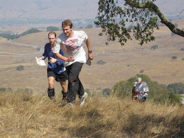Attacking a hill at Calero Park