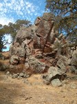Pacheco State Park has boulders!