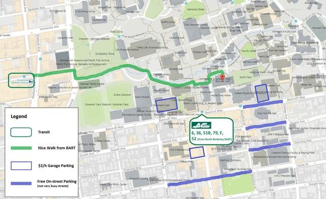 UC Berkeley Parking/BART Options