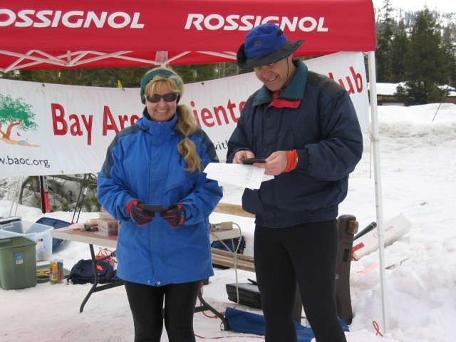Brenda Giese became the woman's red/blue course Sierra Ski-O Champion for 2005
