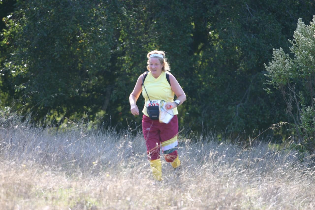 Nancy Lindemann running for the final control
