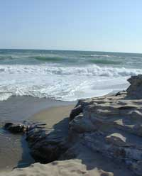 Wilder Ranch, waves and stone