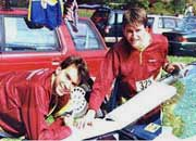 Wyatt Riley and Syd Reader at the US Long-O Championships, 1998