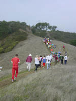 Mass start at the 2002 Golden Goat at Las Trampas