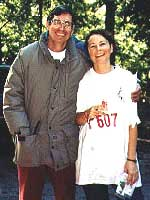 George and Leslie Minarik at the 1996 Big Basin A-meet (Photo: Abby Wolfe)